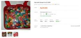 lego jadul dengan tas isi 1000