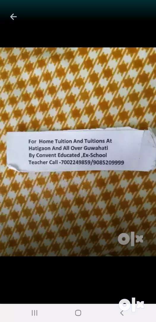 Home tuition by convent educated teachet 0