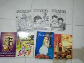 Buku rohani anak pengetahuan pendalaman agama Budha, Katolik, Kristen