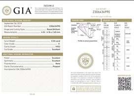 Berlian Eropa sertifikat GIA
