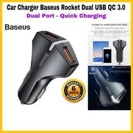Car Charger ORIGINAL Baseus bentuk Roket bagus banget