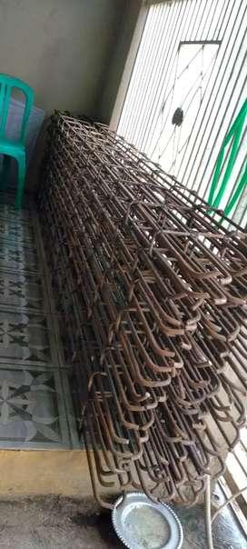 Di jual rangka beton 10mm polos/uril