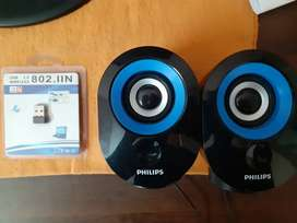 Wireless adapter and Philips speakers set for sale