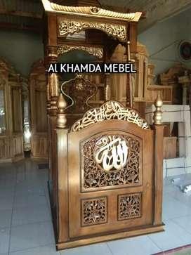 Ready Mimbar Masjid Material Kayu Jati Berkualitas 210