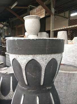 Pot Minimalis berbagai ukuran dengan bahan semen