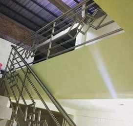 Sumber Stenliss balcon tangga Kaca, @456$244