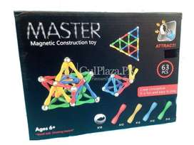 Master Magnetic Construction Toy (63psc)