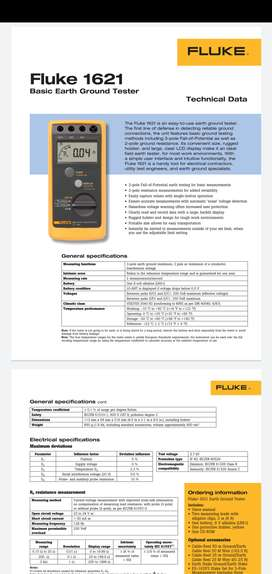 Fluke Earth Ground Tester EPROD Family FLUKE-1621 Earth Ground Tester