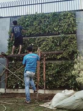 Terima jasa pembuatan taman dinding vertikal garden