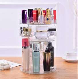 60° Degree Rotating Makeup Organizer Pure Acrylic - Cosmetics Stand Ma
