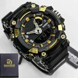 Jam tangan pria Edireiz dual time original