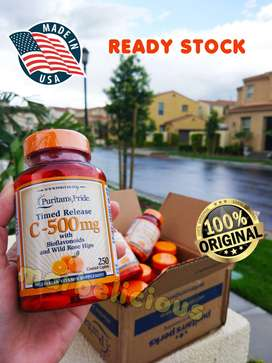 Vitamin C 500mg Puritans Pride isi 250 caps Import USA 100% Original