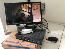 CCTV DAN LAYAR TV LG DAN DVR