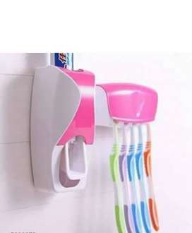 Toothpaste dispenser with toothbrush holder Free shipping