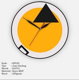 Jam Dinding Bulat KAYYA Motif Triangle Creative [KP030]