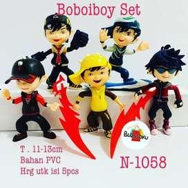 Figure Boboiboy 1 set isi 6 pcs Topper Kue Cake Boboiboy