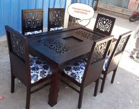 EXCLUSIVE DESIGNED dining table seats 6 TEAKWOOD