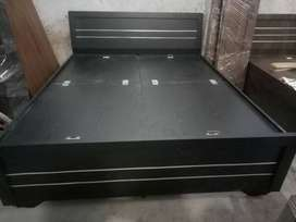 Brand New 6*5 Double Black Wooden Bed