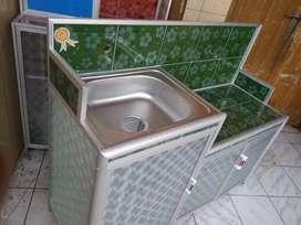 Wastafel bak cuci piring 3 pintu Batang jumbo bawah kramik blkng plat