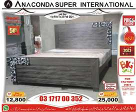 || Double bed wood Bed  ||Set Single bed wood || Furniture Factory