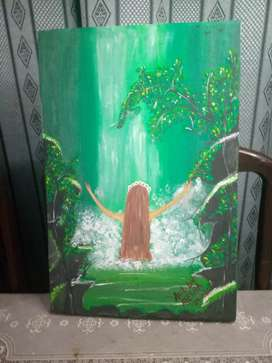 Waterfall painting for girls