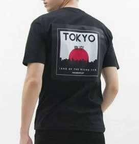 Baju kaos distro pria Tokyo Land of the rising Sun