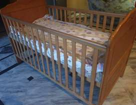 Wooden Baby Cot - Good condition