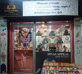 Fully loaded shop with All types of Fashion Jewellery, Cosmetics,etc.