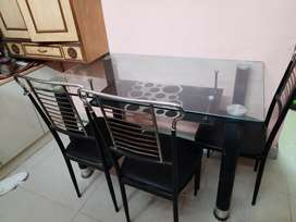 5 years old dining table with 3 chairs