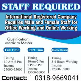 Full time / part time / home based jobs on vacancies