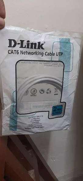New D-link cat 6 networking pach code 2mtr only rs.40 each