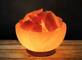 Salt Lamp With Salt Crystal Chunk LED Color Changing light