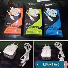Travel Charger usparing 2usb daya 3.5A