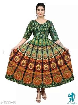 Cotton printed women gown