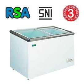 Freezer Glass Sliding RSA Model Kaca Geser