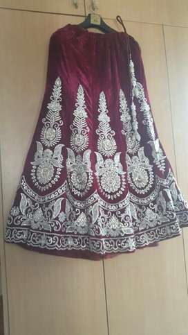 This is new Bridal lehenga and its only 1 time