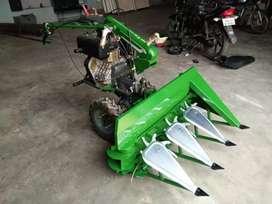Power weeder mounted reaper