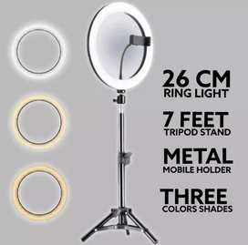 26cm ringlight with mobile holder,stand holder with 7ft stand