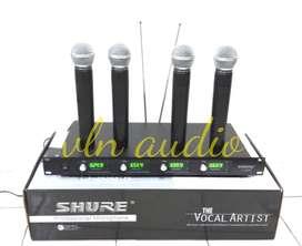 mic wireless SHURE U-8888 (4 mic handle)