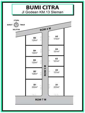 Tanah Kavling Strategis, Murah Area Godean Sleman; Diskon 25 %