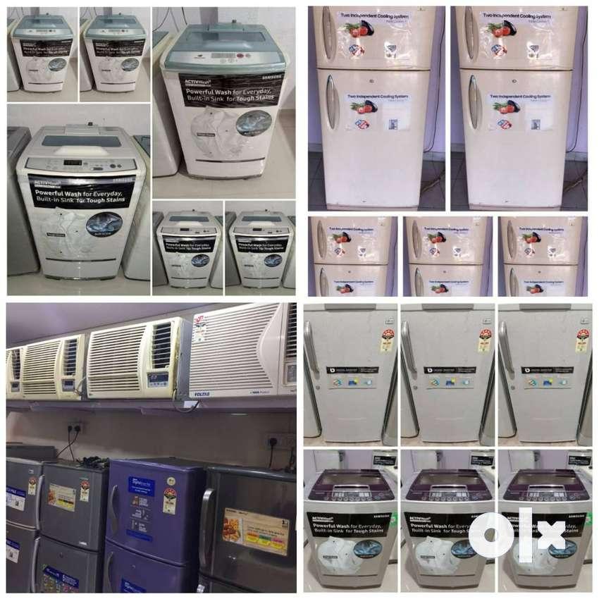 8500/-double door fridge warranty 5 year washing machine/Ac delivery 0