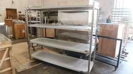 solid rack meja stainless 4 tingkat bisa custom di klaten