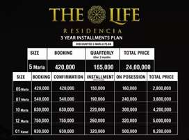 The Life Residencia  Islamabad 5'7,10 and 1 kanal Plot on easy Plan