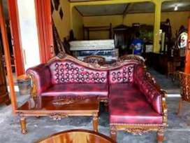 Sedia kursi sofa ukir sudut#2142