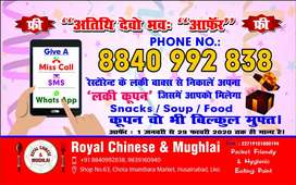 CHINESE COOK, HELPER, CHAAT, POORI BHATURA, MUGHLAI, SOUTH INDIAN