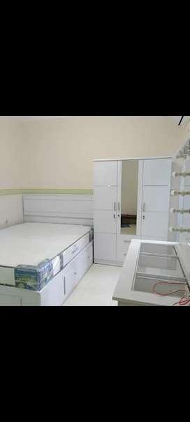 Paket set kamae tidur lemari,dipan dan meja rias best192