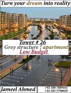 Grey structure ! Ideal apartment available in bahria town Karachi