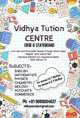VIDHYA TUTION ONLINE CLASSES