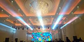 SMD screen, Truss, Sound System, multimedia projector