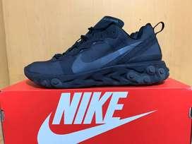 Nike React Element 55 Triple Black Original